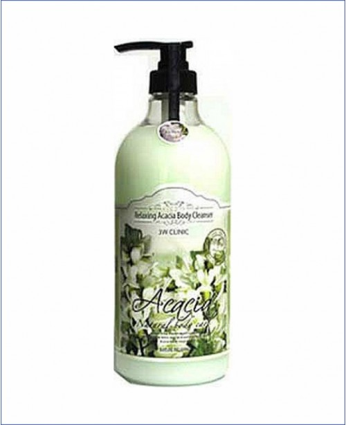 Гель для душа с экстрактом акации - 3W Clinic Relaxing Acacia Body Cleanser