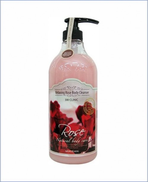 Гель для душа с экстрактом розы - 3W Clinic Relaxing Rose Body Cleanser