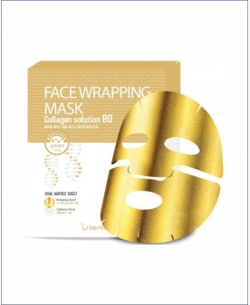 Маска для лица с коллагеном - Berrisom Face Wrapping Mask Collagen Solution 80