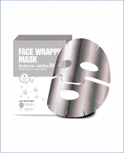 Маска для лица с гиалуроновой кислотой - Berrisom Face Wrapping Mask Hyaluronic Solution 80