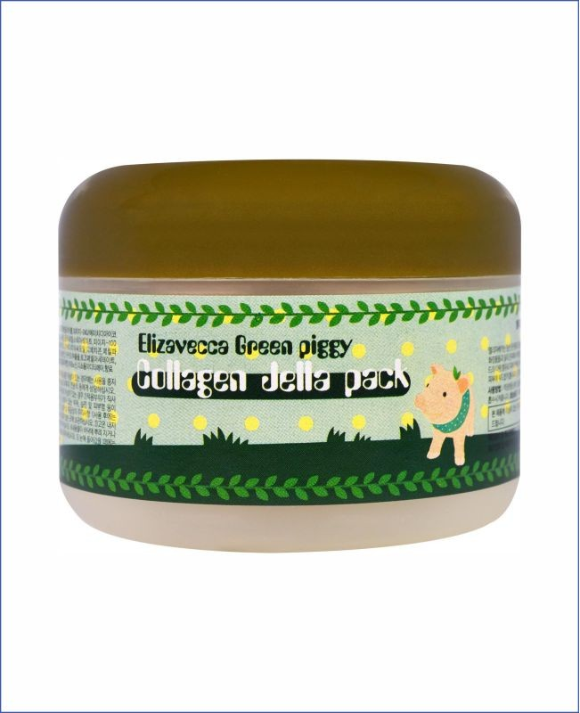 Гелевая коллагеновая маска для лица - Elizavecca Green Piggy Collagen Jella Pack
