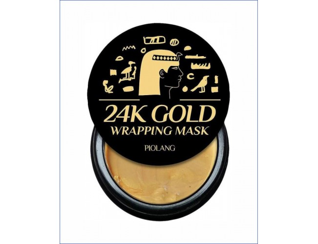 Маска для лица с 24 каратным золотом - Esthetic House Piolang 24K Gold Wrapping Mask