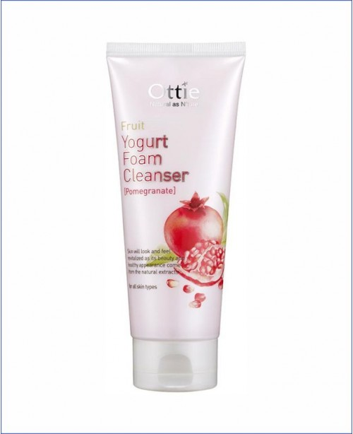 Гранатовая йогуртовая пенка - Ottie Fruits Yogurt Foam Cleanser Pomegranate