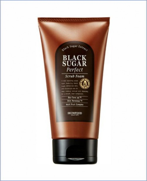 Пенка-скраб с экстрактом чёрного сахара - Skinfood Black Sugar Perfect Scrub Foam