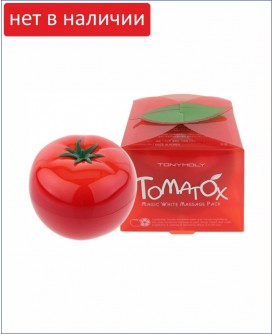 Осветляющая массажная маска для лица с экстрактом томата - Tony Moly Tomatox Magic Massage Pack